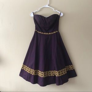 Girls from Savoy Strapless Fit & Flare Dress Sz 4